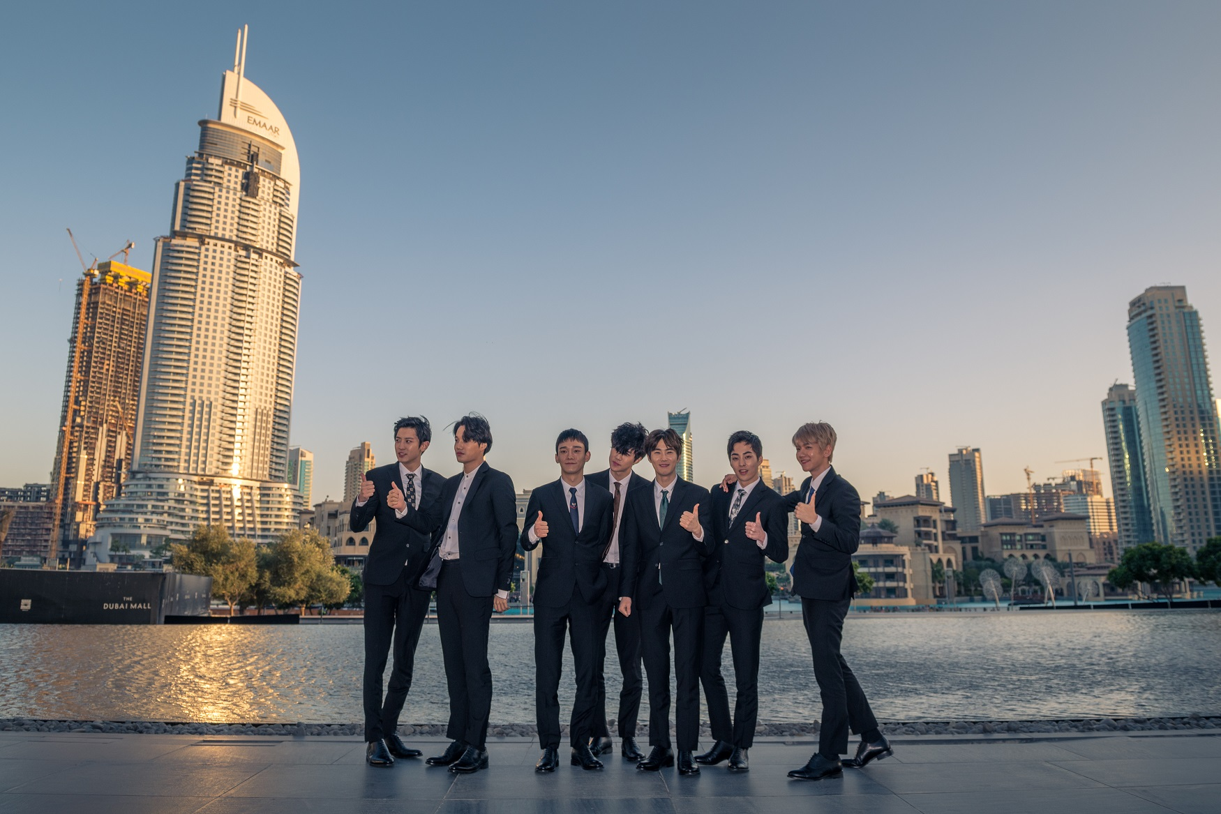 K-Pop supergroup Exo in Downtown Dubai
